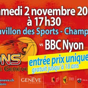 Lions de Genève - Match 02/11/2019