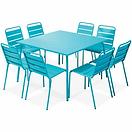 table-de-jardin-carree-en-metal-et-8-cha