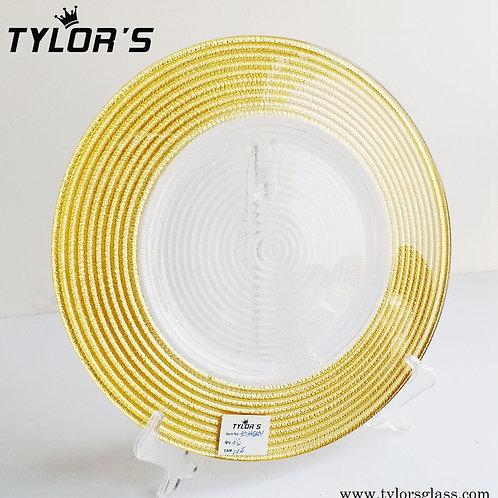 Bulk Cheap Swirl Gold Charger Plates, Set of 120pcs