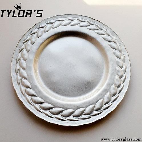 Bulk Metallic Silver Charger Plates,120pcs/Lot