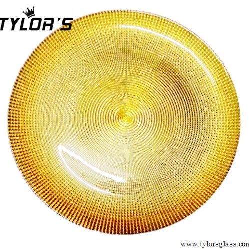 Elegant Electroplated Gold Charger Plates for Wedding, Set of 120pcs