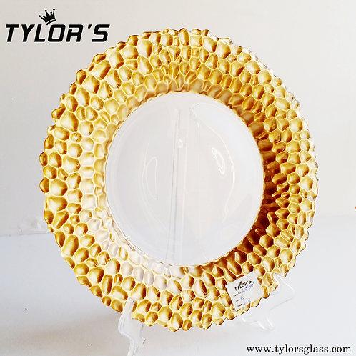 Cheap Gold Border Glass Charger Plates, Set of 120pcs
