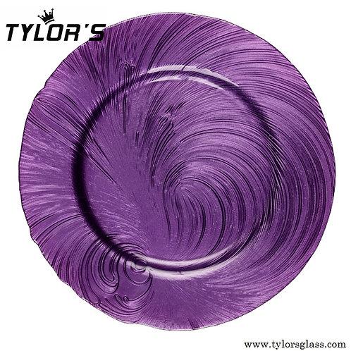 TYLORS Bulk Purple Charger Plates,120pcs/Lot