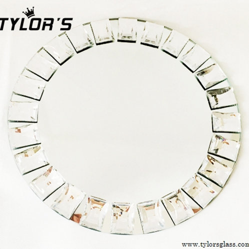 Tylors Elegant Rhinestone Mirror Charger Plates,120pcs/Lot