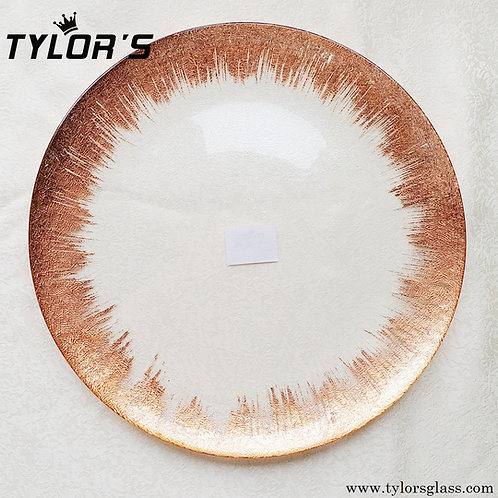 Brush Rose Gold Charger Plates