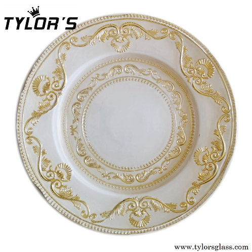 Tylor's Royal Gold Charger Plates for Decor, 120pcs/Lot