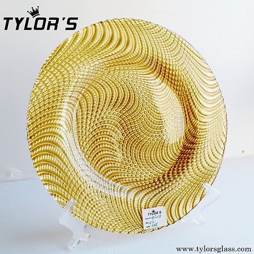 Cheap Glass Gold Charger Plates for Sale,120pcs/Lot