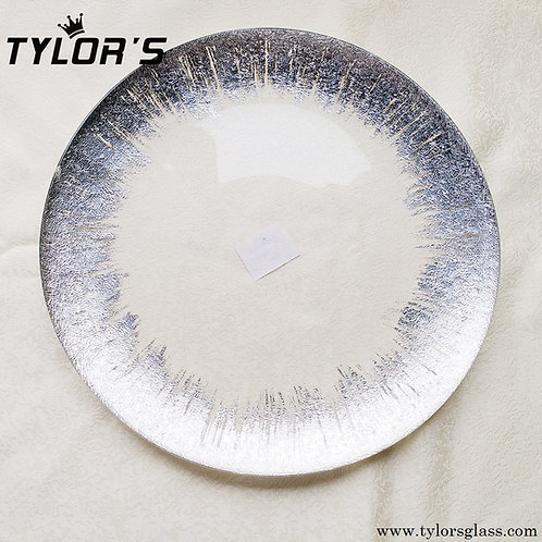 Brush Silver Charger Plates