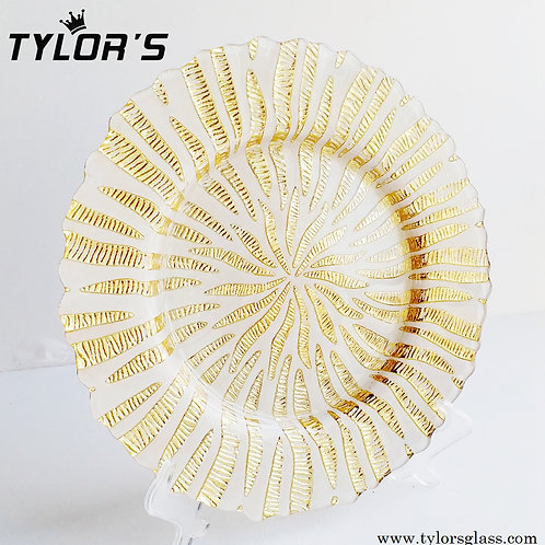 Decorated Cheap Gold Charger Plates,120pcs/Lot