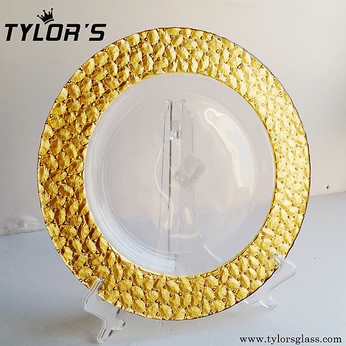 Cheap Gold Border Wedding Charger Plates,120pcs/Lot