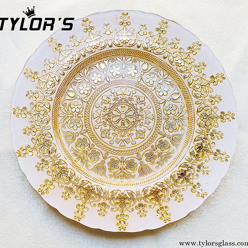 Cheap Bloom Gold Charger Plates for Wedding,120pcs/Lot