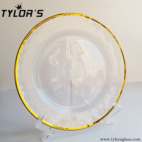 Tylor's Hammered Gold Rim Charger Plates for Wedding, Set of 120pcs