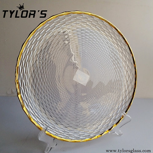 Tylors Crystal Gold Rim Charger Plates,120pcs/Lot