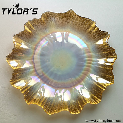 Tylor's Luster Glitter Gold Charger Plates,120pcs/Lot