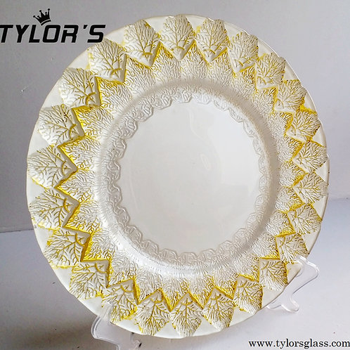 White & Gold Charger Plates For Banquet,120pcs/Lot