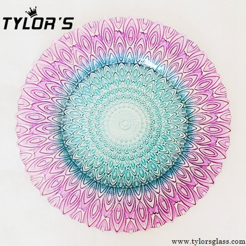 Turquoise and Purple Peacock Charger Plates for Wholesale,Set of 120pcs