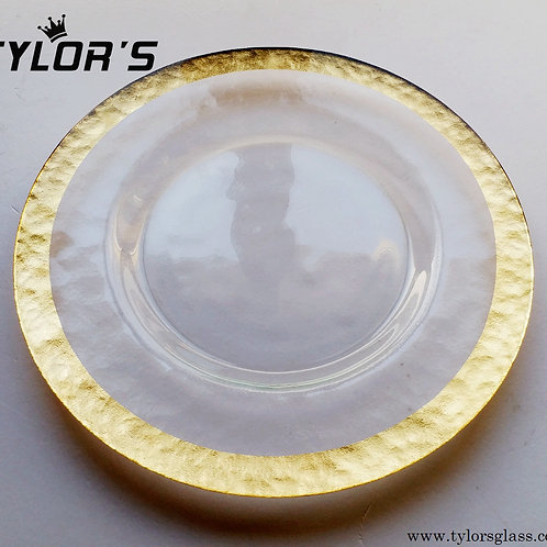 Cheap Gold Charger Plates for Decoration, 120pcs/Lot