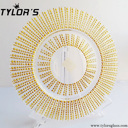 Tylors Glitter Gold Charger Plates for Wedding,120pcs/Lot
