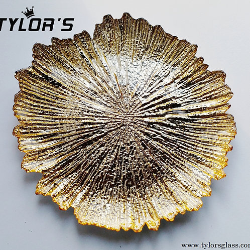 Tylors Reef Gold Charger Plates for Wedding,120pcs/Lot