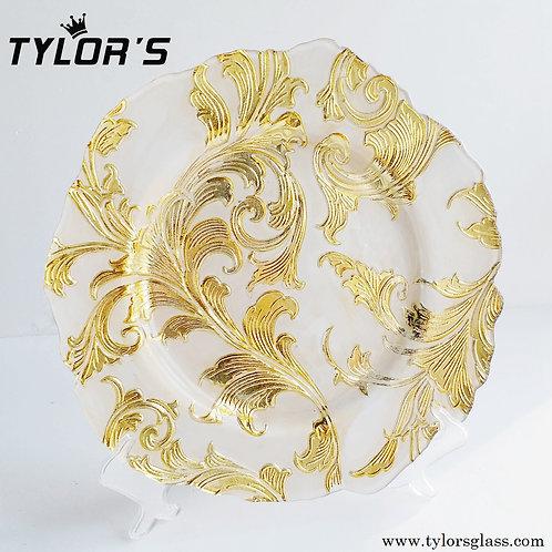 Bulk Flower Gold Charger Plates Wholesale,120pcs/Set