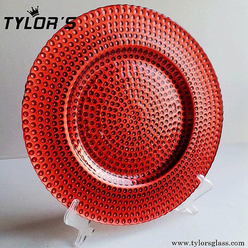 Bulk Hobnail Red Dinner Charger Plates for Wedding,120pcs/Lot