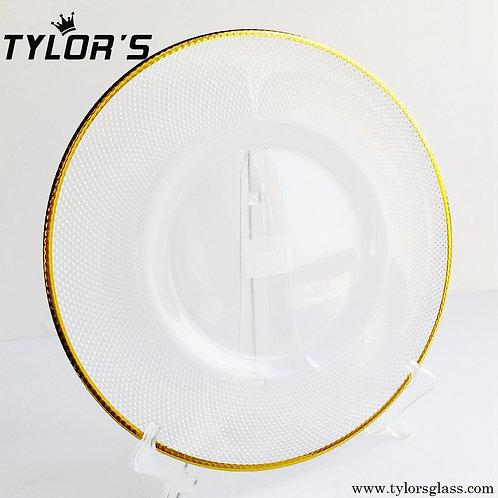 Tylor's Wholesale Gold Rim Charger Plates, Set of 120pcs