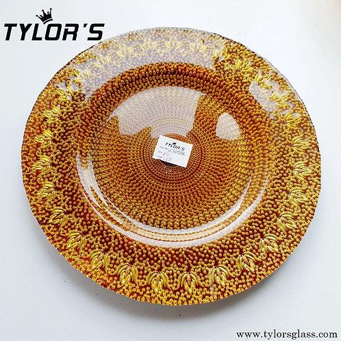 Bulk Brown Gold Charger Plates for Wholesale,120pcs/Lot