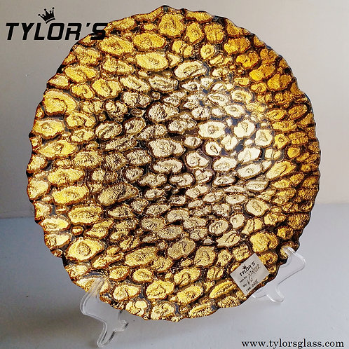 Elegant Brown and Gold Charger Plates,120pcs/Lot