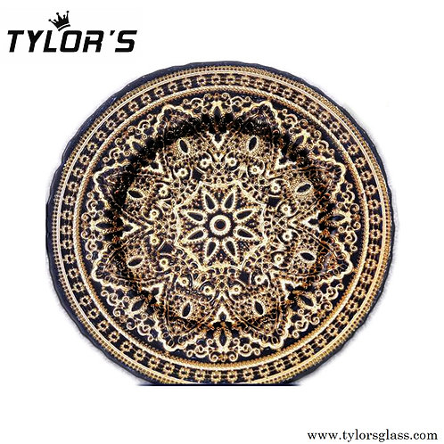 Tylors Wedding Black & Gold Charger Plates,120pcs/Lot