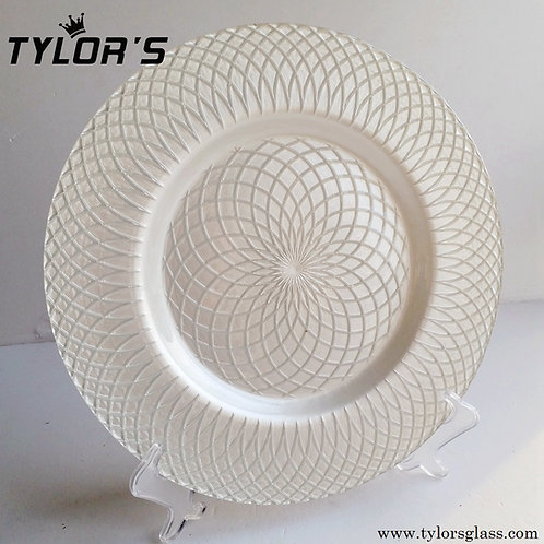 "Bulk 13"" Decorated White Charger Plates,120pcs/Lot"