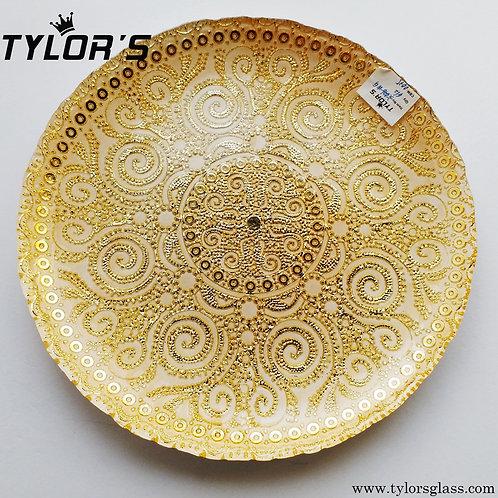 TYLORS Glass Gold Charger Plates,120pcs/Lot