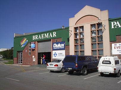 Outside view of Braemar Paints in Sidwell, Port Elizabeth