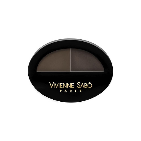 """Vivienne Sabo Тени для бровей двойные """"Brow Arcade"""" 02"""