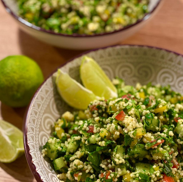 Limettiges Hirse Tabouleh