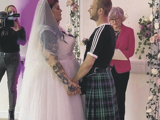 Brave Holly says 'I do' on big day