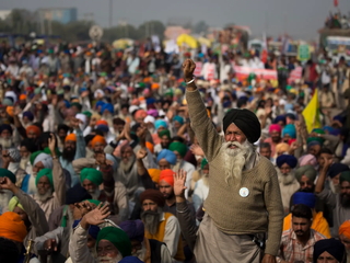 'India Closed' is the chant as huge demonstrations by farmers occupy cities in a revolt against free-market reforms