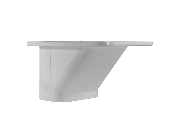 80mm  iDuct  PVC  Eaves Cap Fitting White