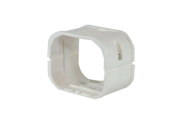 80mm  iDuct  PVC  Joiner Fitting White