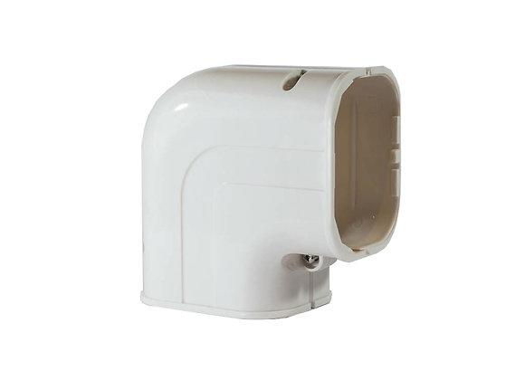 100mm  iDuct  PVC  90 Degree Flat Elbow Fitting White