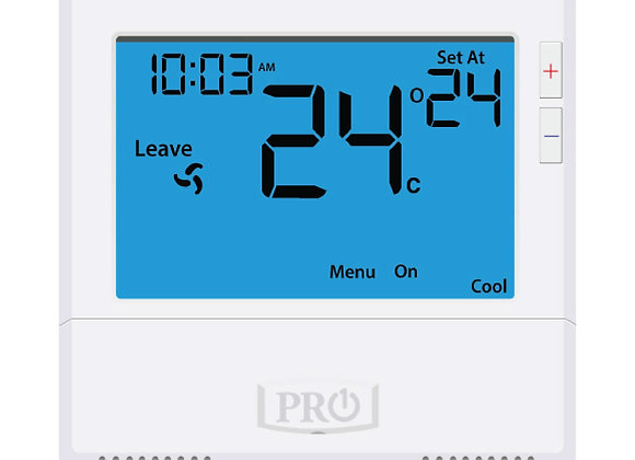 T805  Pro1 Thermostat  5+1+1 Progammable, 1H/1C with 8sq. Inch display