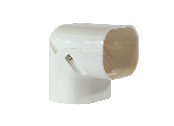 80mm  iDuct  PVC  90 Degree Bend Fitting White