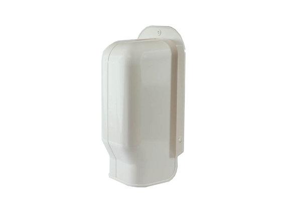 100mm  iDuct  PVC  Wall Cap Fitting White