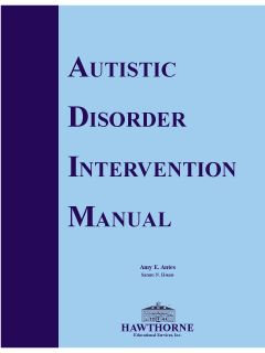 Autistic Disorder Intervention Manual 04020