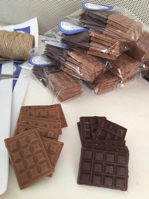 Mini tablettes chocolat
