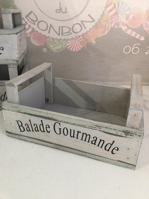"""Panier bois """"BALADE GOURMANDE """""""