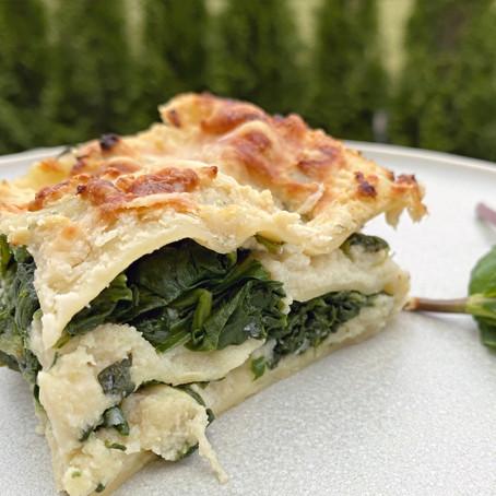 Lasagne mit Minzspinat und Blumenkohl