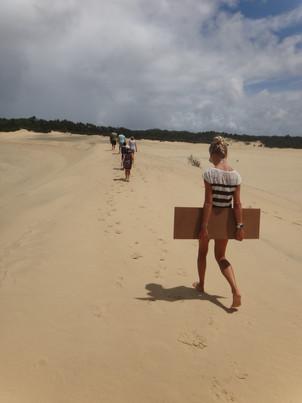 Moreton Island - Sandboarding