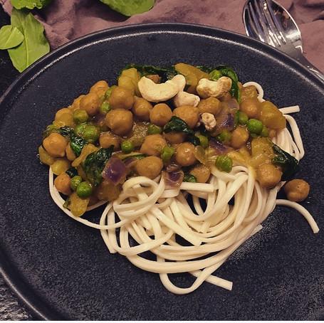 Kartoffel-Kichererbsen-Curry
