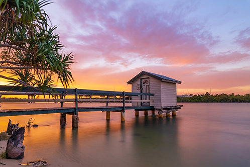 Boathouse on the Maroochy River, Queensland
