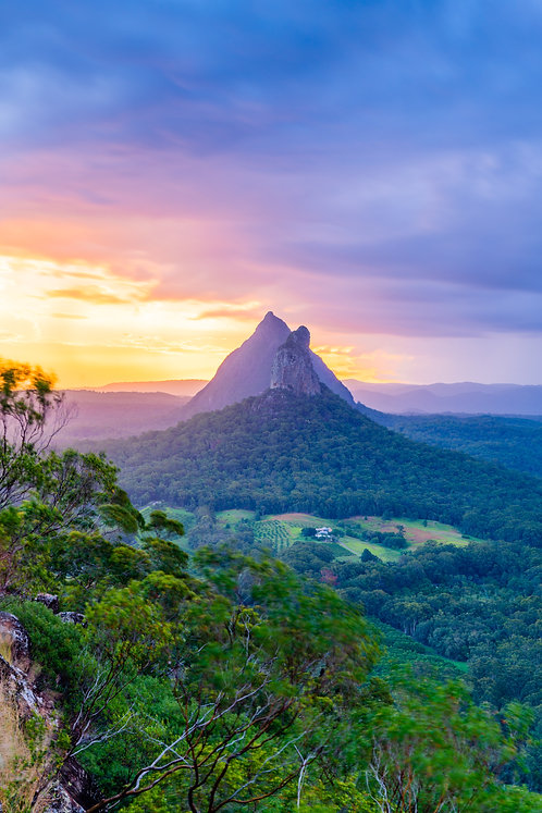 Glasshouse Mountains Sunset, Queensland